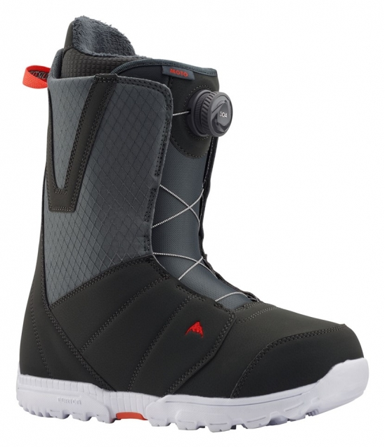 Burton Moto Boa Gray/Red 2020 Snowboard Boots