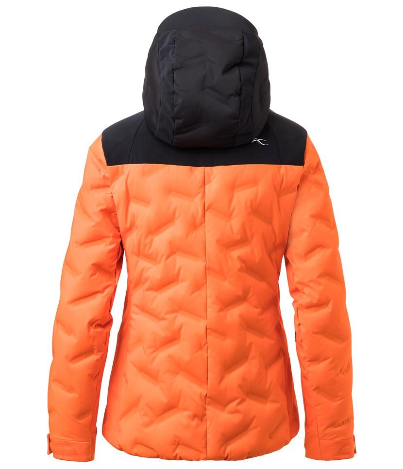 Kjus Ela Jacket-Black Orange 2.