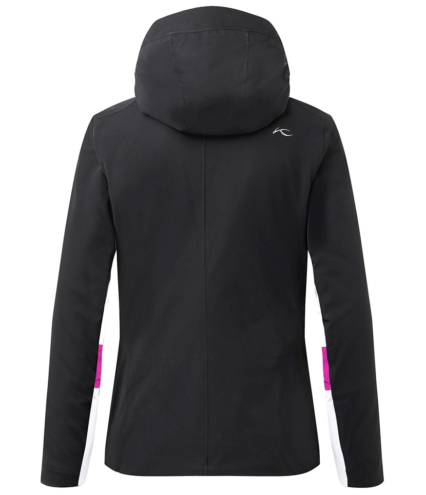 Kjus Laina Ski Jacket-Black White 2.