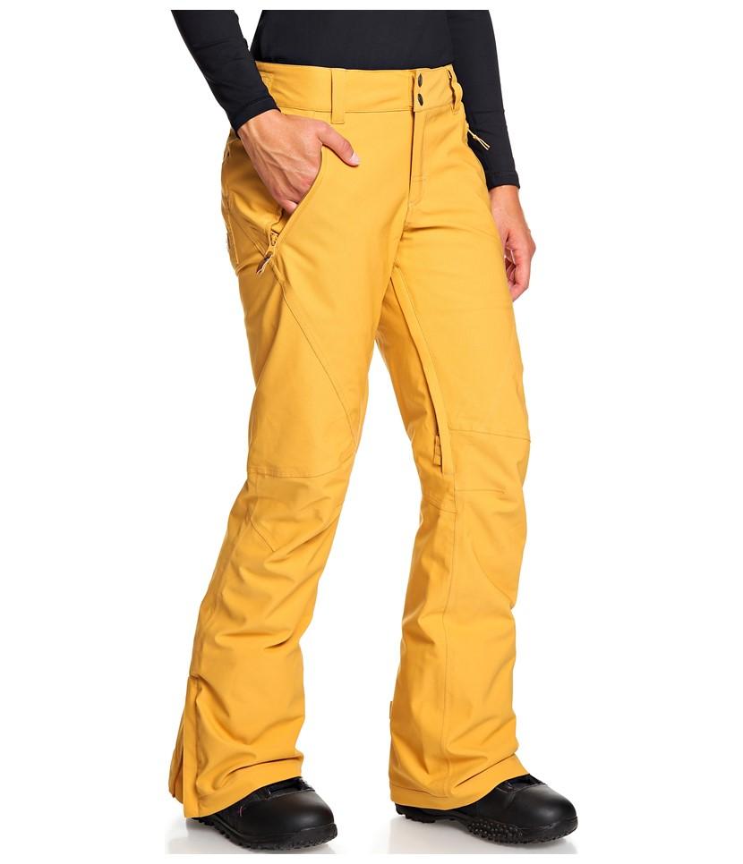 Roxy Cabin Pant-Spruce Yellow 3.