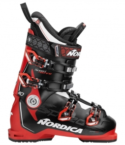 Nordica Speedmachine 110 Ski Boots Black Red