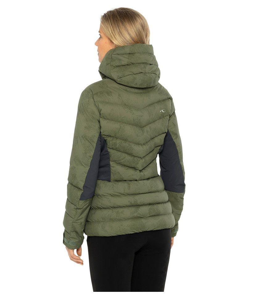 Kjus Duana Women's Jacket Int Green/Black Model Back
