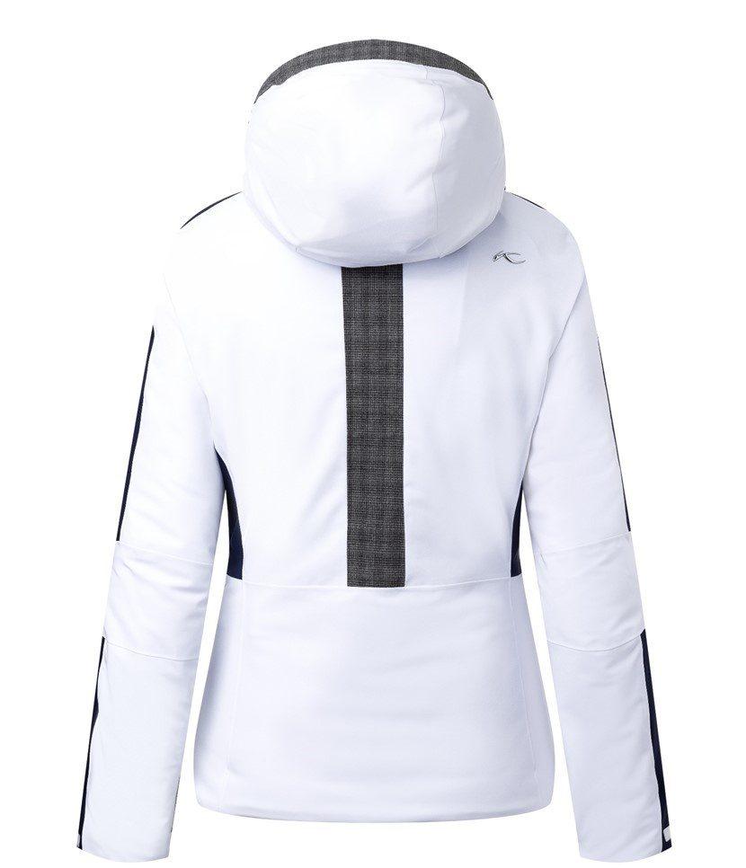 Kjus Formula Women's Jacket White/Atlanta Blue Back
