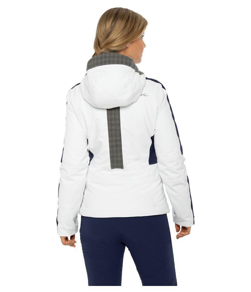 Kjus Formula Women's Jacket White/Atlanta Blue Model Back