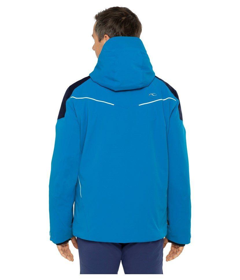 Kjus Formula Men's Jacket Aruba Blue/Atlanta Blue Model Back