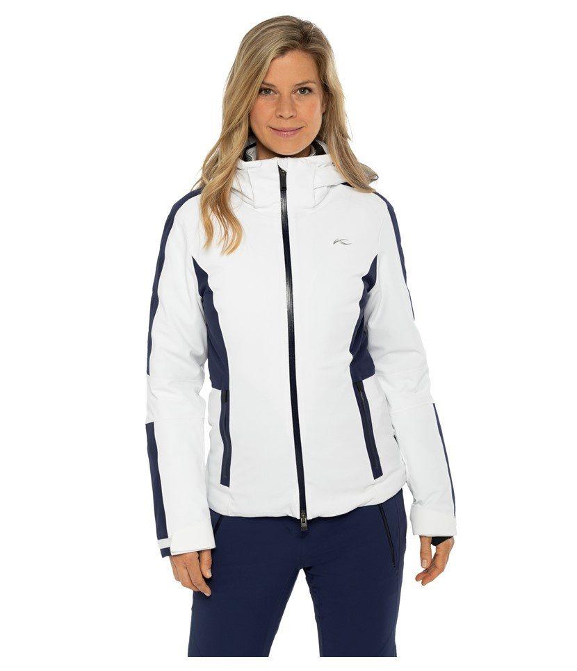 Kjus Formula Women's Jacket White/Atlanta Blue Model