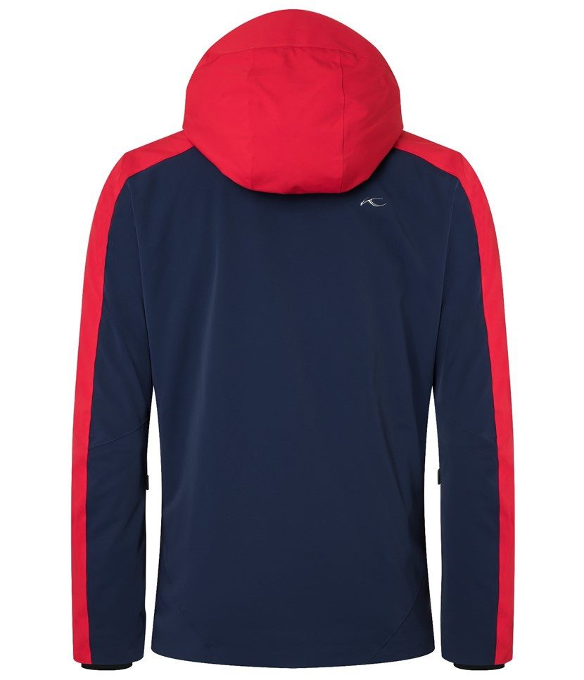 Kjus Boval Men's Jacket Atlanta Blue/Scarlet Back